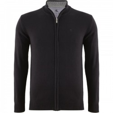 Sweter rozpinany czarny KITARO 4XL
