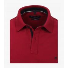 Sweter w serek bordowy KITARO 6XL