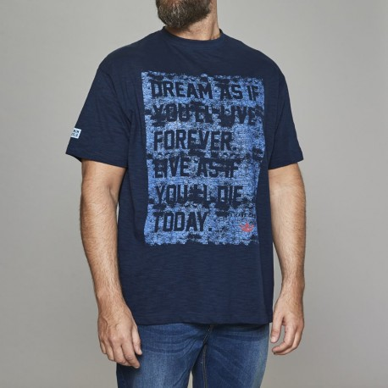 T-shirt granatowy Replika Jeans