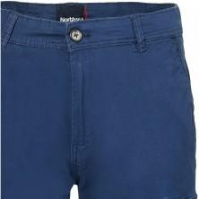 Koszula lniana ze stójką Replika Jeans pomarańczowa