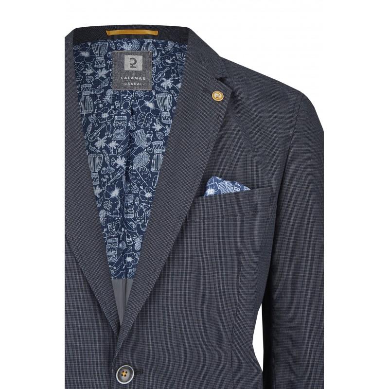T-shirt granatowy w serek KITARO