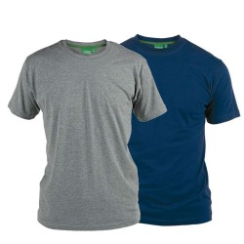 T-shirt dwupak DUKE D555 FENTON (2szt.) 4XL