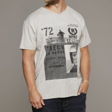 T-shirt szary z nadrukiem Replika Jeans