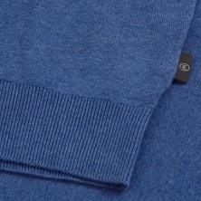 T-shirt granatowy rozpinany Replika Jeans