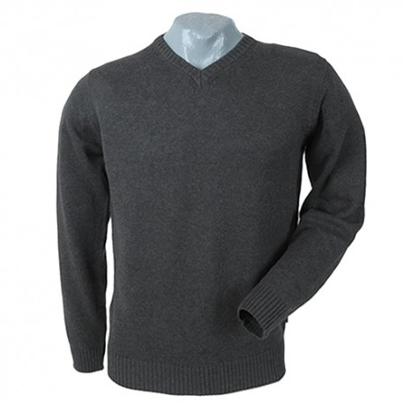 Sweter w serek grafitowy KITARO