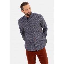 Sweter niebieski w serek North 56°4 6XL