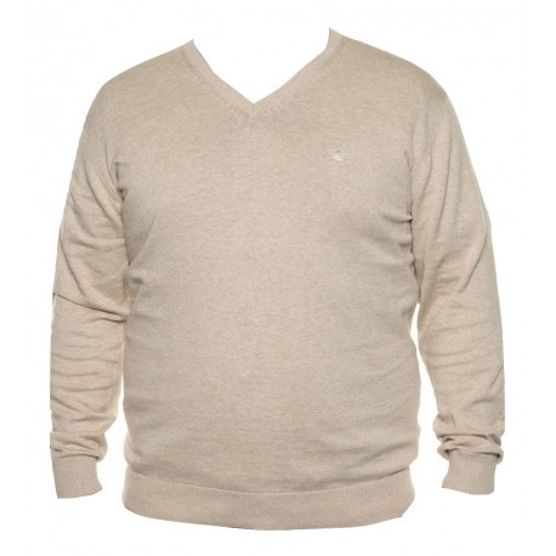 Sweter beżowy w serek KITARO