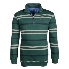 Sweter rozpinany w paski KITARO 3XL
