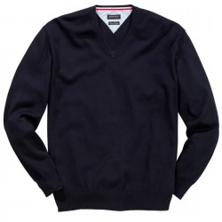 Sweter w serek granatowy REDFIELD 6XL