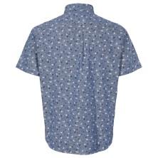 Koszula lniana NORTH 56°4 niebieska w paski 7XL