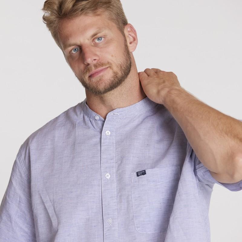Koszula lniana CASA MODA w kratkę