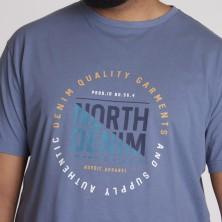 Koszulka polo CASA MODA niebieska