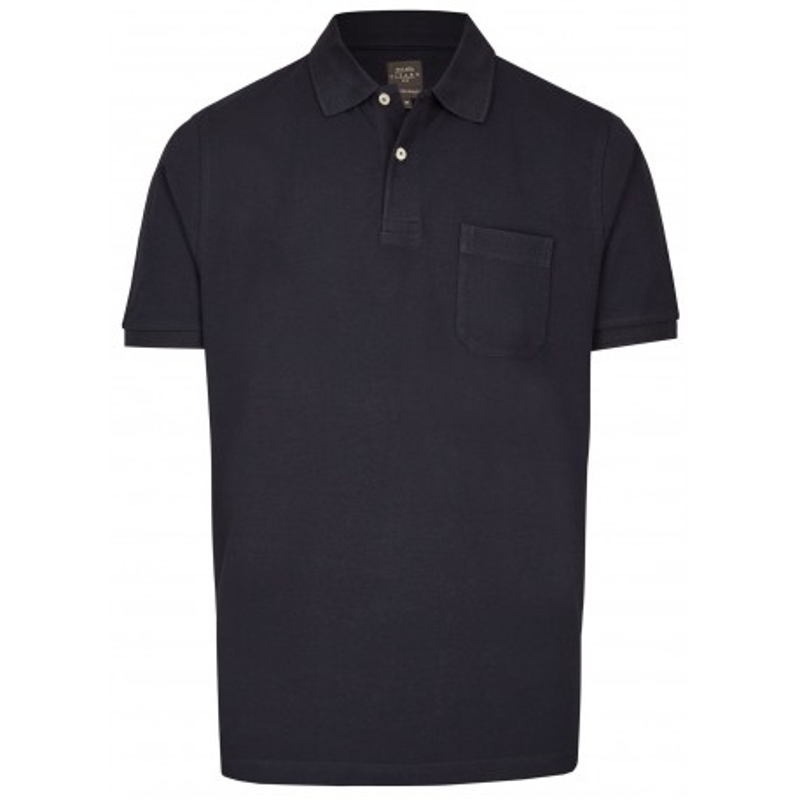 Koszulka polo z kieszonką granatowa KITARO