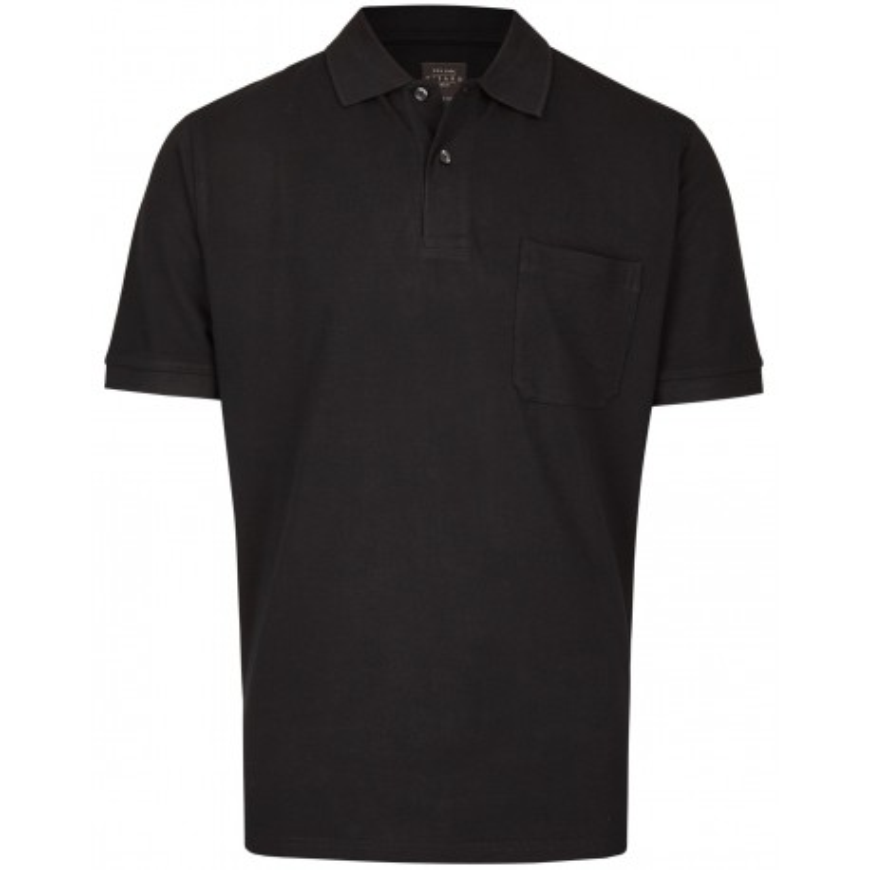Koszulka polo z kieszonką czarna KITARO