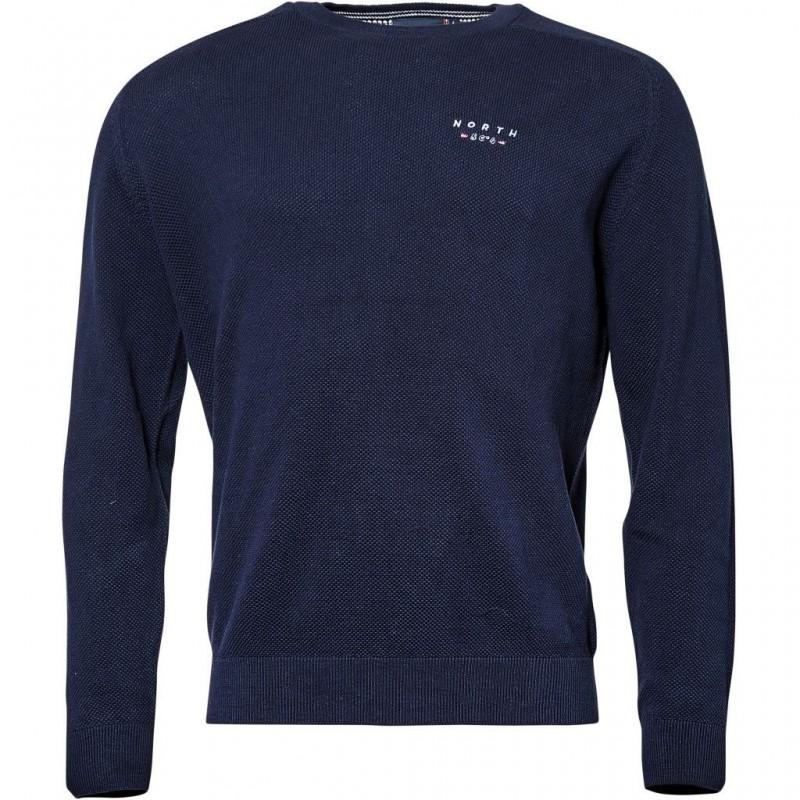 Koszulka polo niebieska gładka NORTH 56°